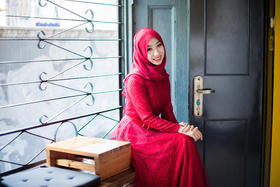 【优雅如诗】穆斯林婚宴礼服  无现货需定制