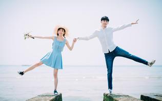 【北海涠洲岛旅拍】+唯美海景写真式婚纱+5服5造