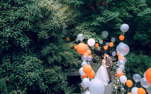 Candylove-亮眼橙色森系美式田园草坪婚礼