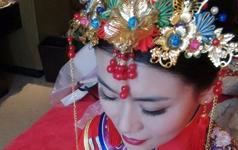 1.31日中式婚礼结婚当天造型