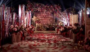主题婚礼《爱的誓言》炙热的红写下永恒的誓言