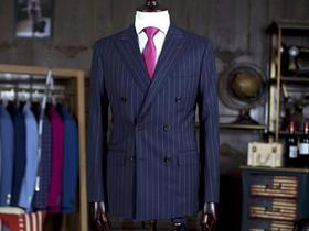 精仿面料 个性双排扣定制男士礼服