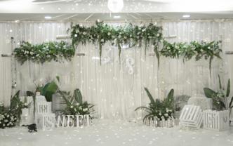 雅琼婚礼丨白绿色超值特惠套餐(赠送四大金刚)