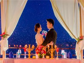 """三亚山海天万豪酒店""""浪漫烛光""""晚餐婚礼套餐"""
