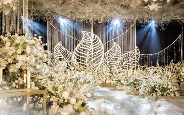 香槟白网幔梦幻婚礼 雪—铂悦婚礼