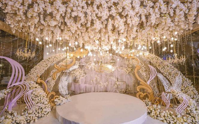 【喜鹊婚礼】裸粉色仙气十足奢华烂漫婚礼