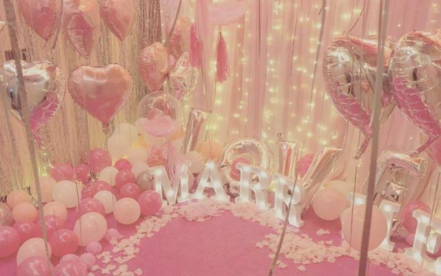 春日婚礼|粉红少女心爆棚的求婚策划