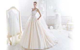 【百万新娘力推】品牌婚纱礼服5件套+8小时跟妆