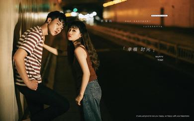 【进部婚纱摄影】公路夜景主题·甜蜜时光