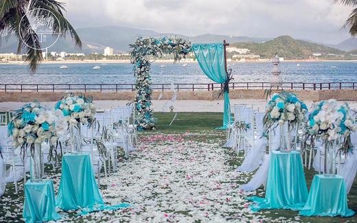 蓝色庄园--清新简约户外婚礼