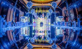 梦中的城堡—蓝色婚礼案例