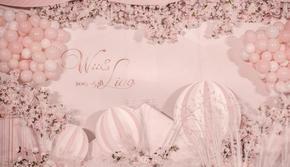 【皇家尊荣套餐】粉色甜美公主马卡龙气球 一价全包