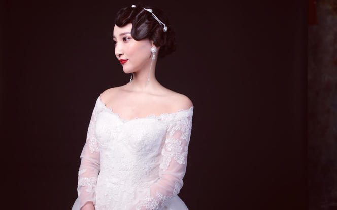 安吉莉娜原创设计单品仙范婚纱