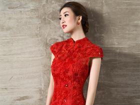 中式礼服 新款红色结婚旗袍新娘敬酒服