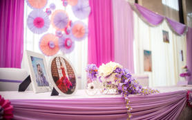 中州国际粉紫色系婚礼