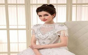 宫廷水晶公主蓬蓬纱重工纯手工齐地纱出门纱