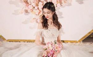 【黛莉露丝】时尚拖尾婚纱3件套 送伴娘服3套