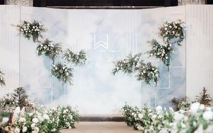 【小预算婚礼】含4大金刚清新白绿婚礼