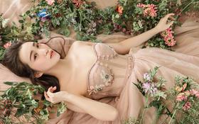 【长沙罗门婚纱】花丛中