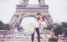 【客片】LaMoon婚纱天津新娘在巴黎的大片