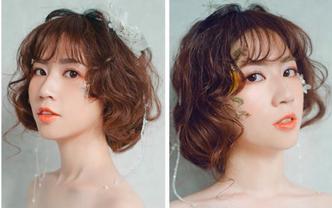 苇苇造型总监档全程跟妆3造型森系唯美妆容送亲友妆
