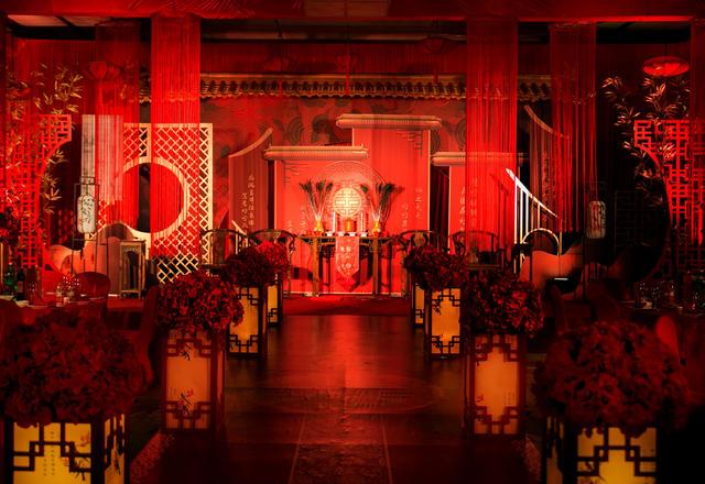 【颜汐婚礼策划】红色室内中式大气婚礼