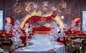 【鹿森婚礼】超高性价比 浪漫红色婚礼 含四大金刚