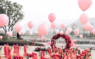 初冬  眷恋  遐想  复古暗红色的户外婚礼