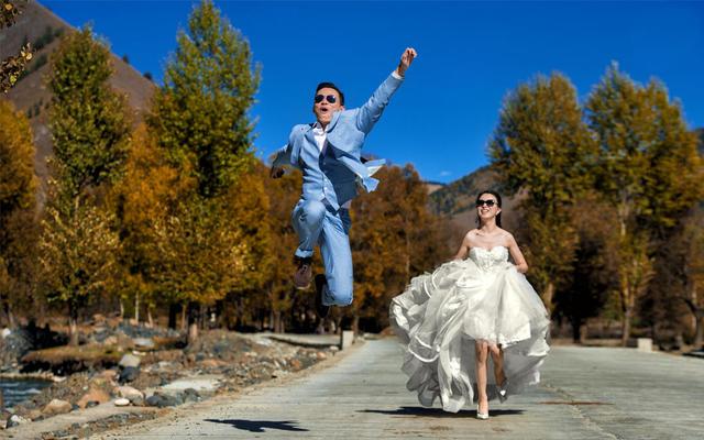 【果枝婚纱设计】和你一起说走就走/自由之纱