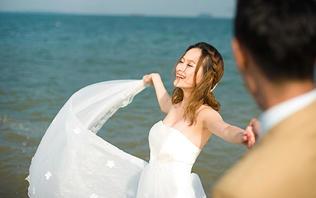 【双城外景】高端定制沙滩海景+华丽拍摄基地婚纱照
