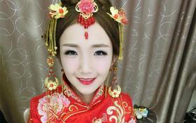 中式新娘造型  你也可以这么美