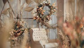 【安达仕】秋日系温馨婚礼布置/怡人暖色/包含四大