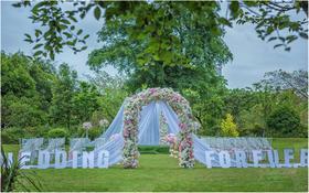 时光印迹粉色户外清新婚礼