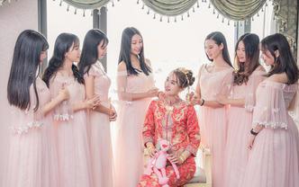 高端婚礼全天单反三机位航拍跟拍
