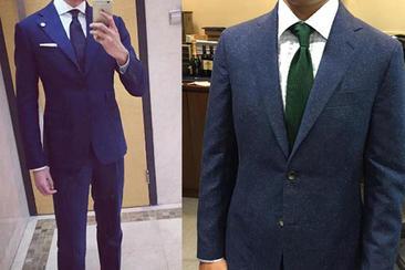英伦全手工定制男士西服套装