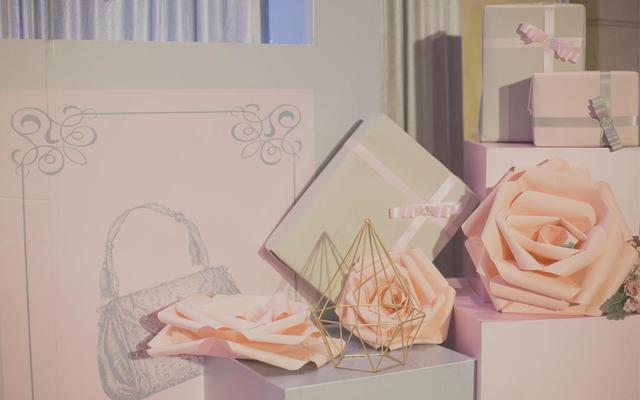Q创意婚礼 (灰粉色 几何 礼物盒 极简 主题)