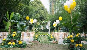 户外外景清新草坪婚礼仪式
