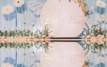 【artisan婚礼匠】粉蓝羽毛小清新、浪漫唯美