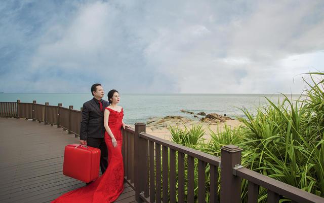 希菲尔婚纱摄影【大小洞天】红丝带在飘