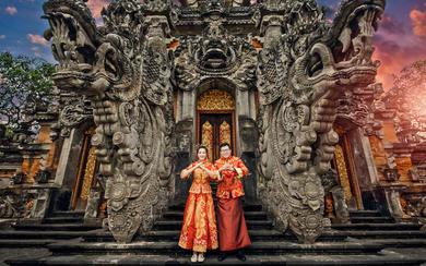 爱旅拍巴厘岛•客照欣赏•艺术中心中式喜庆