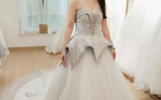 灰姑娘主纱,中式囍褂+礼服(赠男士中式)4件套