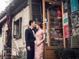 江南园林爆款婚纱照