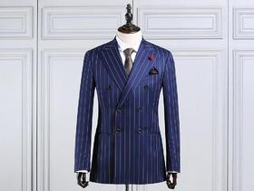 新款丨Cálaos纯羊毛条纹男士结婚西服套装