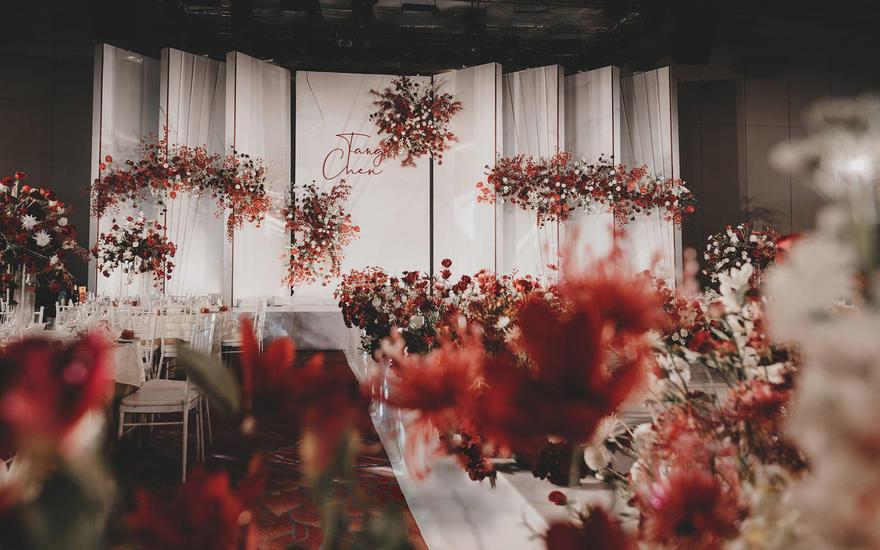 【ANE COLOUR】红白极简线条感浪漫婚礼