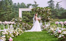 -蜜途婚礼-户外绿色-画与未完成