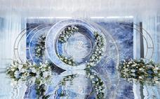 【立梵婚礼】蓝色系时光梦幻欧式创意定制婚礼