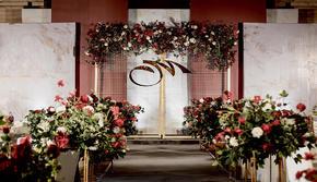 【颜汐婚礼】送logo设计  红金色简约婚礼