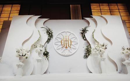 夏季简约白绿色系清爽婚礼设计
