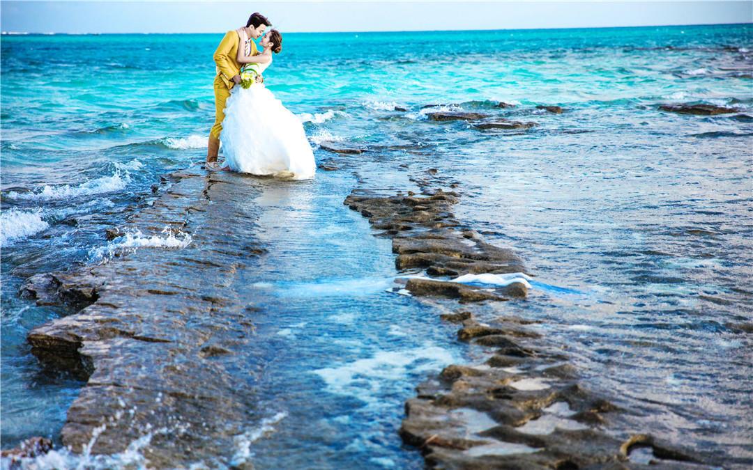 海景公园唯美韩系婚纱摄影