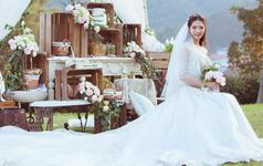 Crystal婚纱系列,户外婚礼实拍